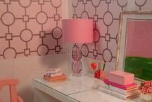 """Barbie Craft Rooms & Offices / 1:6th Scale Offices, Craft Rooms, Desks, Etc. for Blythe, Barbie, Fashion Royalty, Integrity, Silkstone, 10-12"""" Dolls, etc.  / by Ronda"""