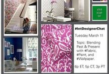 Fabric, Paint, & Wallpaper  / The World Class Designers at #IntDesignerChat  Blending Past And Present With Fabric, Paint, and Wallpaper.