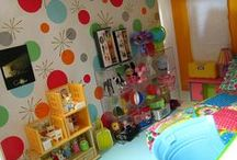 """Barbie Kids ~ Nurseries, Bedrooms, Toys / Blythe, Barbie, Fashion Royalty, Integrity, Silkstone, 10-12"""" Dolls, etc. Children's rooms, toys, and related baby things. (For more infant accessories, see Barbie Re-ment 1:6th Scale, etc.) / by Ronda"""