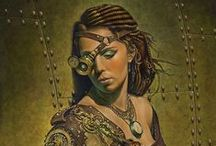 "Steampunk and other insperations / idea""s for future paintings and such / by Lisette Hanson"