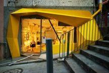 VITRINES / Design moderne et inspiré de différentes façades (magasins, architecture etc...)