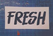 FRESHNSTEEZY DESIGN / Handlettering, graphic design, etc. Just stuff that I've made. :) #freshnsteezydesign