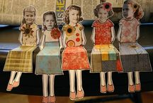 Paper People / Adorable paper creations in the shape of people, in other words, Paper Dolls