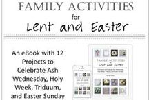 [Faith] Apr: Lent & Easter / Ideas to celebrate Lent, Triduum, Holy Week, Holy Thursday, Good Friday, Holy Saturday, and Easter Sunday, including: recipe, project, decor, and craft. Some Catholic & Christian, some not.