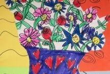 Art Class with Miss Rebecca / Easy Fun (and preferably inexpensive) Crafts for Kids / by Reb