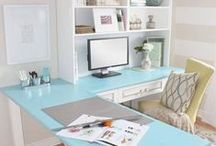 Home Office Organization / Did you know that your work environment can make you more productive? Follow this board to get home decor and organization ideas for your home office and start getting things done.