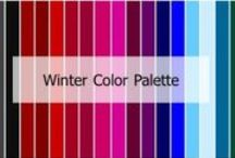 Winter Color Palettes / Features: Personal features are usually dark •Black or dark brown hair •Dark eyes or skin •The majority of Asian, Black and Indian cultures have color characteristics that fall into this category •Think dramatic and bold colors Shade: Dark Undertone: Cool Intensity: Bright