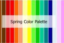 Spring Color Palette / Features: Personal features are usually light. •Golden Blonde or Golden brown hair •Icy blue or intense grey eyes •Peachy pink skin •Think fresh and peachy Shade: Light Undertone: Warm Intensity: Bright