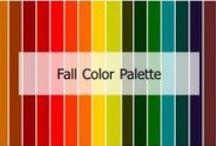 Fall Autumn Color Palette / You may have golden speckles in eyes or a golden hint of color in your skin tone. Colors are deep and earthy. Think about the leaves in the fall when they change color and rustic themes. Shade: Dark Undertone: Warm Intensity: Muted, dull