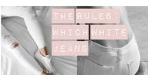 White Jeans For Your Bodyshape / Everybody can wear white jeans, you just need to know which style suits you. Inspiration on how to style the white jean