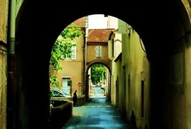Paths, Gateways and Arches / I am a part of all that I have met; Yet all experience is an arch wherethrough Gleams that untravelled world, whose margin fades For ever and for ever when I move.