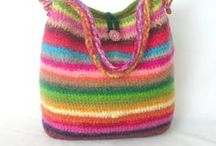 bags, bags and more bags / upcycled hand bags