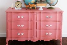 Painted Furniture / Fun painted furniture. Revitalizing thrift store finds / by Virginia | Fynes Designs