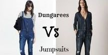 Dungarees, Overalls & Jumpsuits Oh My! / Which do you prefer dungarees, overalls or jumpsuits? The choice is yours? Just ad shoes and your ready to go!