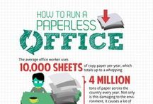 Less Paper / Use less paper, be more digital, recycle.