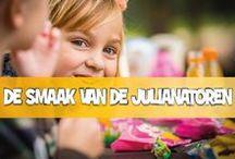 De smaak van de Julianatoren / Snel een heerlijke snack tussendoor halen of lekker uitgebreid eten? Het kan allemaal bij de Julianatoren. Verspreid over het park vind je een grote diversiteit aan eetgelegenheden, veelal met een eigen thema en bijpassende gerechten.