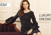Cecily Designer Dresses For Work / We are delighted to introduce you to the beautiful designer business dress collection by fab British brand Cecily - now in store! Luxurious fabrics and signature necklines, these stunning work dresses are already a huge hit with London's top banking and http://www.pinstripeandpearls.com/women/brands/cecily