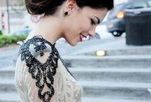 Black lace details