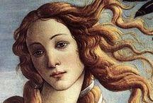 Venus Anadyomene / Birth of venus - art for girly blue/green bathroom?  Love Botticelli, Titian especially.