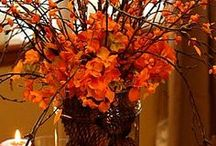 Fall Decor / Decorating and DIY Crafts for Fall, Halloween and Thanksgiving