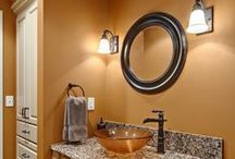Color Inspiration / Designing a new kitchen or bathroom?  Get inspired with these color ideas!