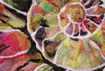 Inspiration: Freehand Machine Stitching / Thread painting, free motion embroidery, machine thread painting, free motion quilting / by Peggy Wright, Ruby Wings