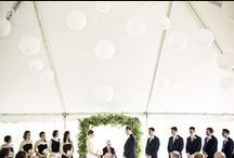 I do - Ceremony / Inspiration for an Autumn wedding ceremony - tented and after dark.