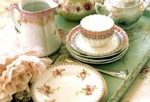 """Tea time / """"Is that the rattle of tea cups"""" my father would say whenever it was teatime"""
