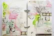 Journaling + Book Binding  / Art journaling and book making
