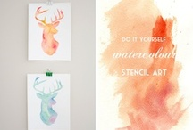 Make Art + Collages / Art to make for your home.