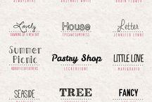 •Fonts•