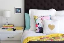 Bedroom decor / Decor, soft furnishings, colour palette and furniture ideas for bedrooms.