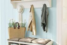 Mudroom ideas / Decor and organisation ideas for mudrooms and garages.