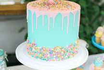 Party cakes / Cake recipes, icing ideas + tutorials, cake inspiration and pretty toppers for cakes + cupcakes.