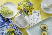 Delphinium & Daffodil Interior Collection / Featuring a palette of spring daffodil yellow and cool delphinium blue, enhanced with bright white and soft greys.  / by BHS UK
