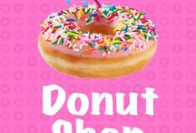 Donut shop playing cards / Donuts and playing cards - heck yeah! Makes poker, blackjack, Go Fish, Texas hold 'em, hearts, rummy, pinochle, bunko, and other card games more delicious!