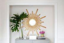 Spiegel Dekorationsideen / Spiegel als Deko einsetzen, Badezimmerspiegel, Ganzkörperspiegel, runde Spiegel, Spiegelrahmen und mehr