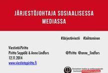 Viestintäesityksiäni ja puheenvuorojani / Viestinnän, verkkoviestinnän, sosiaalisen median ja tapahtumamarkkinoinnin esityksiäni ja puheenvuorojani Slidesharesta.  / by Piritta Seppälä