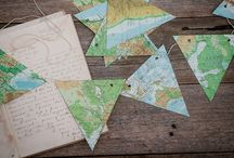 Maps for discovering / Inspiration how to use maps, recycling or world map fabrics used in cool Products.