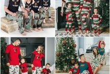 Family Christmas Pajamas / Favorite matching Christmas pajamas for cute holiday cards and fun Christmas morning photos! We love footie pjs, funny pjs, plaid family pajamas and so many other styles!