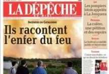 El fuego del Empordà en la prensa internacional
