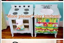 Play kitchens and dolls house / by Fruzsina Bezdany