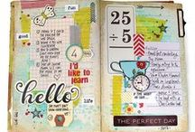 Art journaling / journals, journaling and art journaling