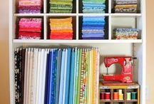 Sewing room / my sewing room needs storage, a working place and inspiration walls / by Zen Chic, modern quilts by Brigitte Heitland