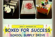 2014 Boxed For Success / Donate School Supplies July 1 - August 10 To find out more visit http://bit.ly/13Q7S91