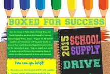 2015 Boxed for Success School Supply Drive / Join the Town of Palm Beach United Way and Youth United as we host the Boxed for Success School Supply Drive, July 1– August 10. Learn more: ow.ly/PeJSx