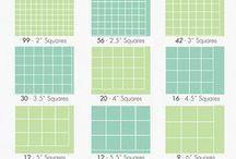 Quilt Math / tables for Quilter's, quilt math, quilt sizes, quilt calculation, halfsquare Triangles measurements, quilt measurements / by Zen Chic, modern quilts by Brigitte Heitland
