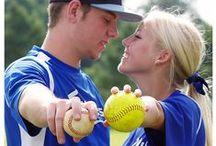 Softball & Baseball Couples Session / #baseball #softball #couples    #sports