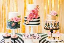 Kate Spade Inspired Weddings / Stripes, gold polka dots, and a little hot pink! Elegant and quirky at the same time. / by Jessika Feltz | Jupiter and Juno