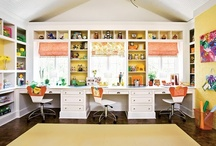 Home Office ~ Studio ~ Craft Room / workspaces that inspire.  Pretty, functional office and creative spaces